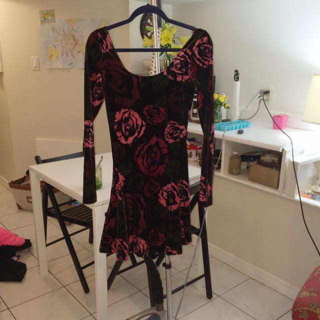 Betsey Johnson Velvet Skater Dress