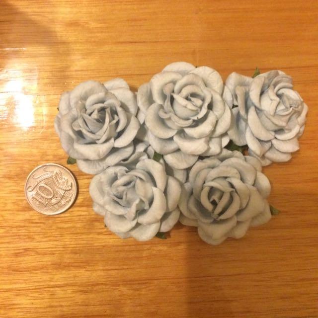 Big mulberry paper rose
