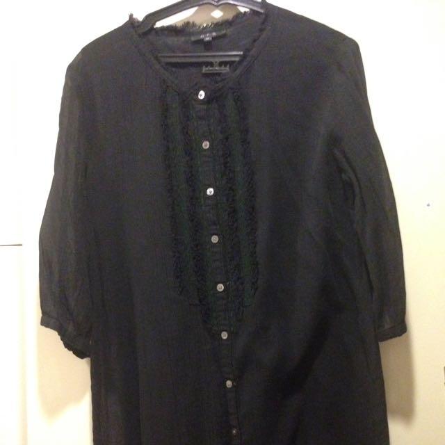 Black Chiffon tunic