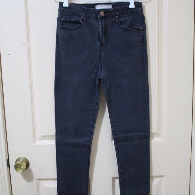 Black High Waisted Jeans (Size 10)