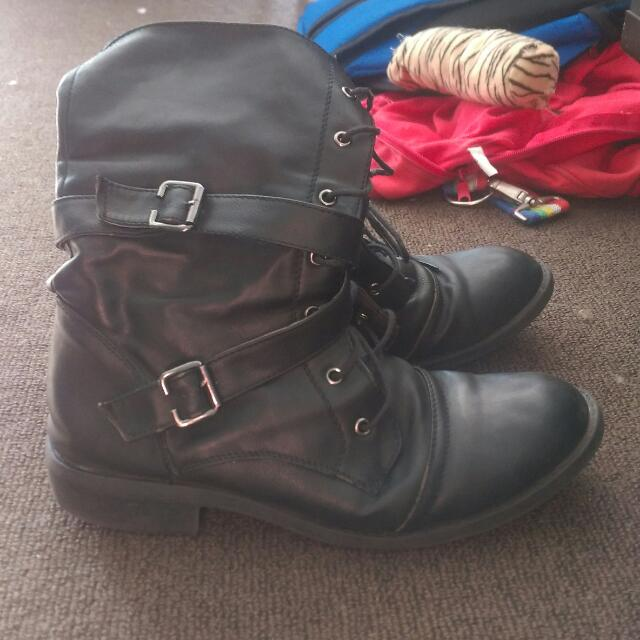 Black Mid Length Boots