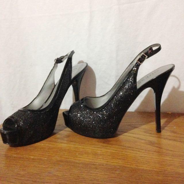 Black Sparkly Heels