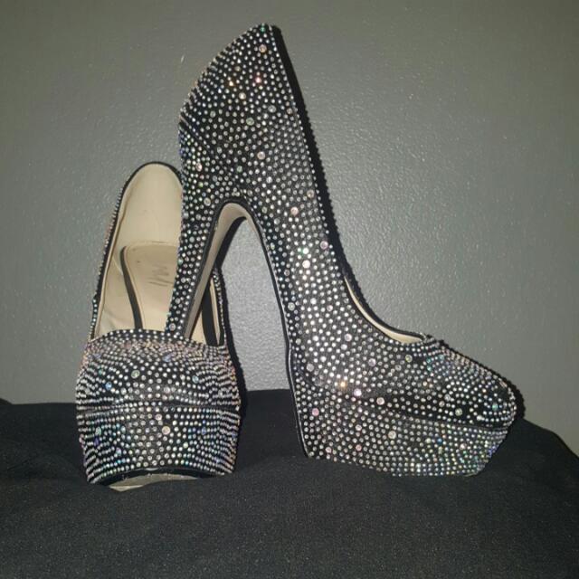 Black Sparkly Verali Shoes