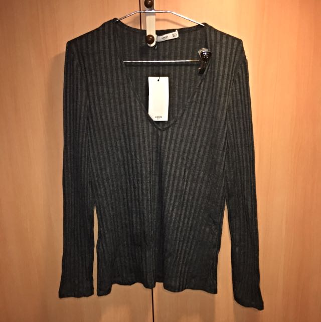 Brand New - Mango Suit Long Sleeved Ribbed Top