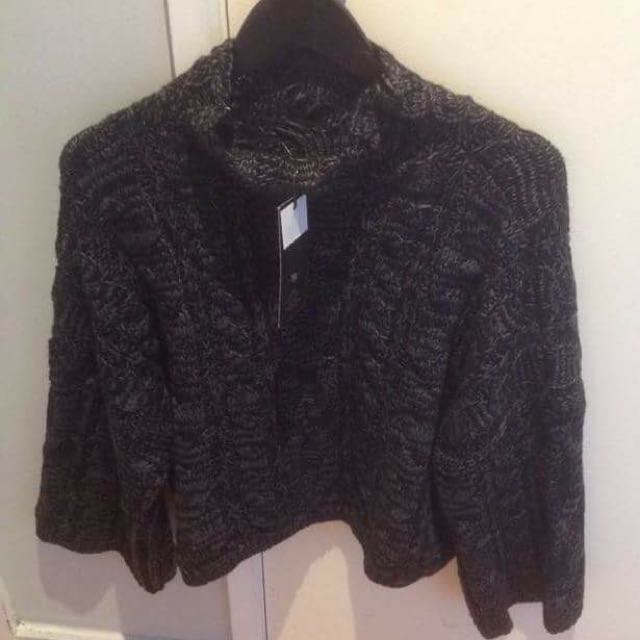 Crop Knitted Skivvy Sweater
