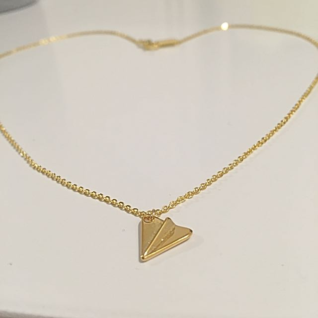 Cute Origami Paper plane Necklace Chain