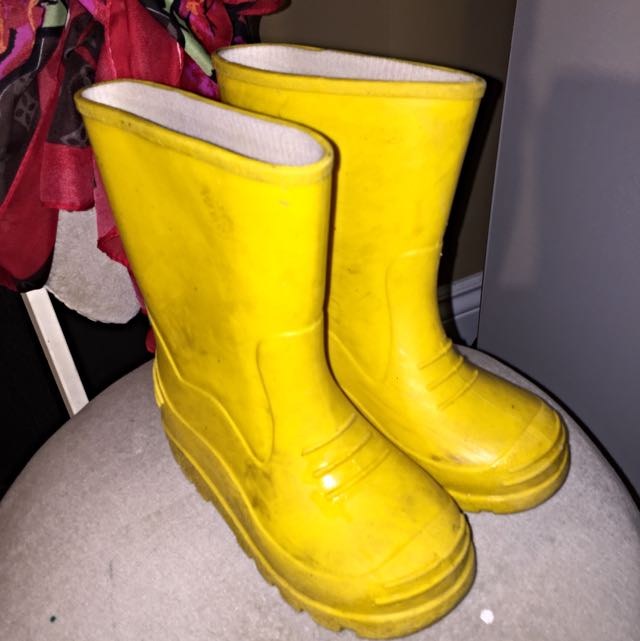 Cute Yellow Rain Boots
