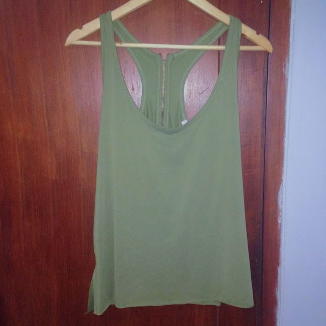 forever 21 tank with zipper on back