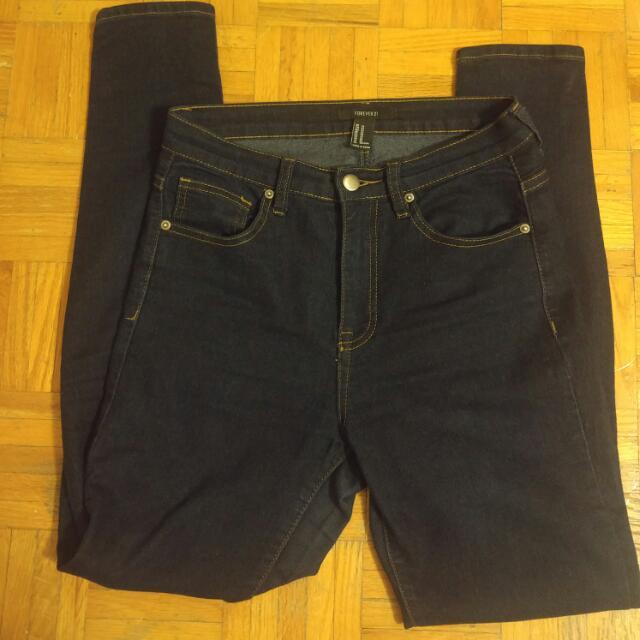 Forever 21 Indigo Blue Jeans
