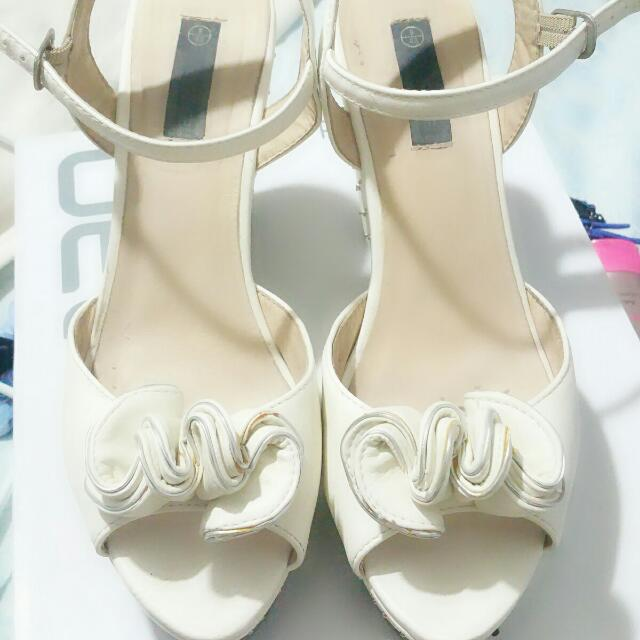 Forever New White Wedges