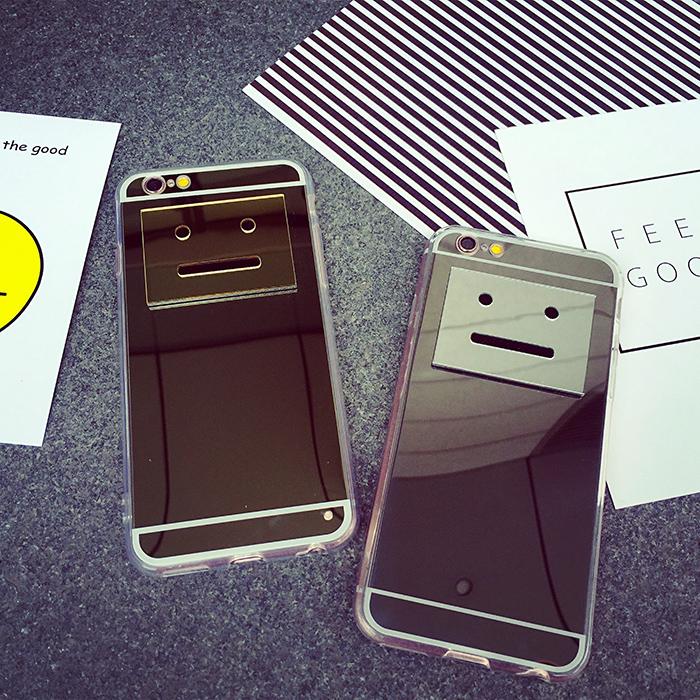 蘋果手機套時尚GD smile立體笑臉鏡面手機殼軟殼可愛笑臉手機套 iphone6s/i6 6plus