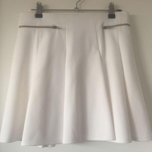 Gorgeous White Tennis Style Skirt