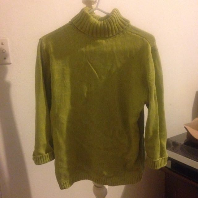 Green Turtle Neck Jumper