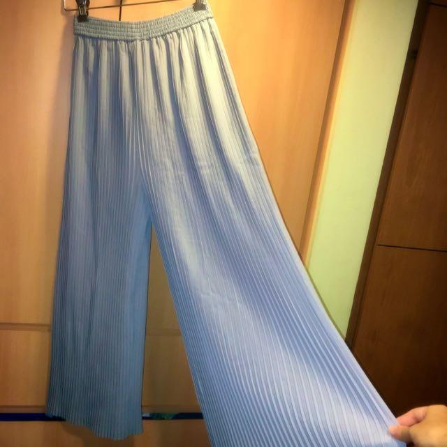 Grey High Waisted Pleated Pants