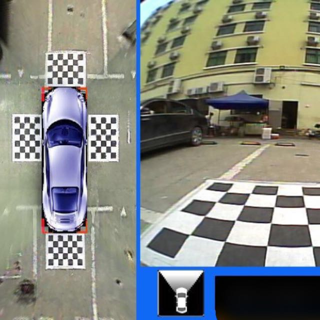 High Resolution Bird Eye View 360 Degrees Car Camera Panoramic