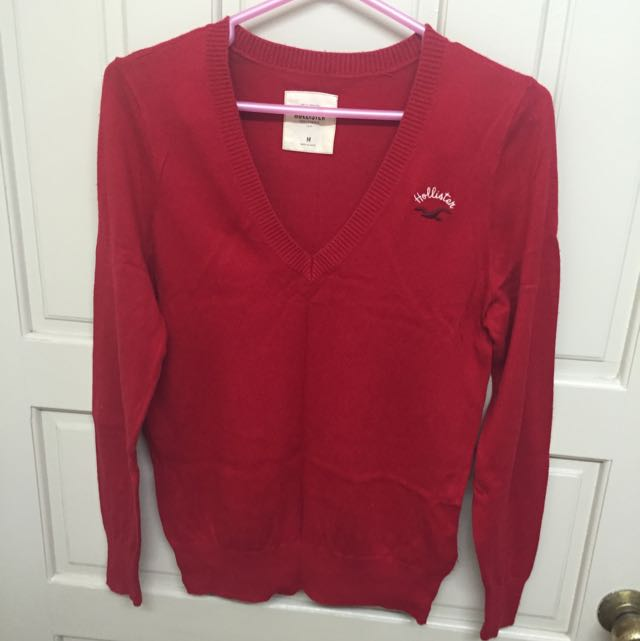 Hollister紅色毛衣