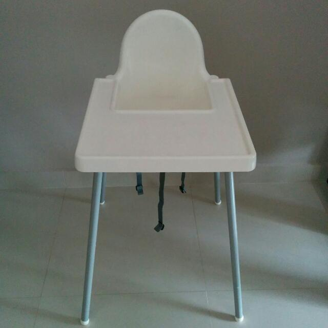 def34413527 IKEA ANTILOP Highchair with Safety Belt And Tray