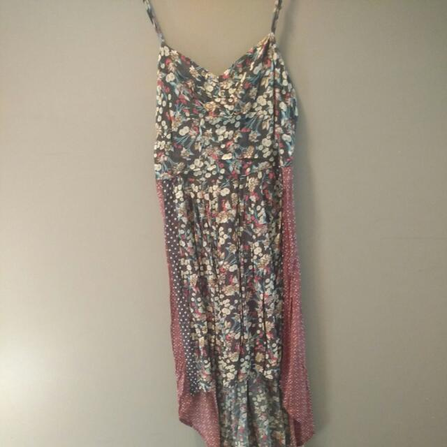 Long Floral O'Neil Dress,