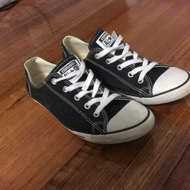 bc0f35d72752 Low Top Thin Sole Black Converse
