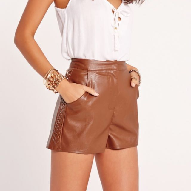 Miss Guided Brown Shorts