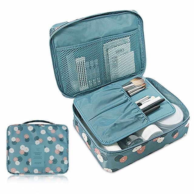 b6c4edac43 Multi-Pouch Cosmetic Makeup Toiletry Bag Travel Kit Organizer Pouch ...