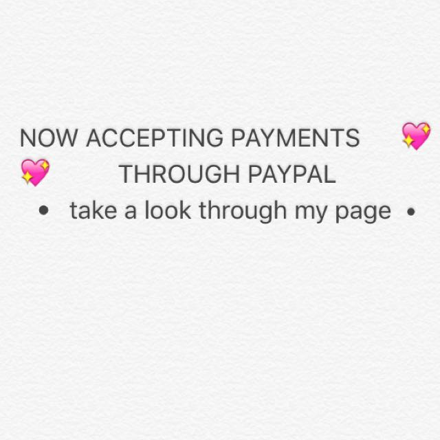 PAYMENTS CAN BE MADE VIA PAYPAL