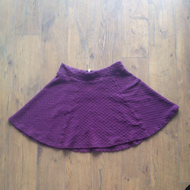 H&M Purple Circle Skirt