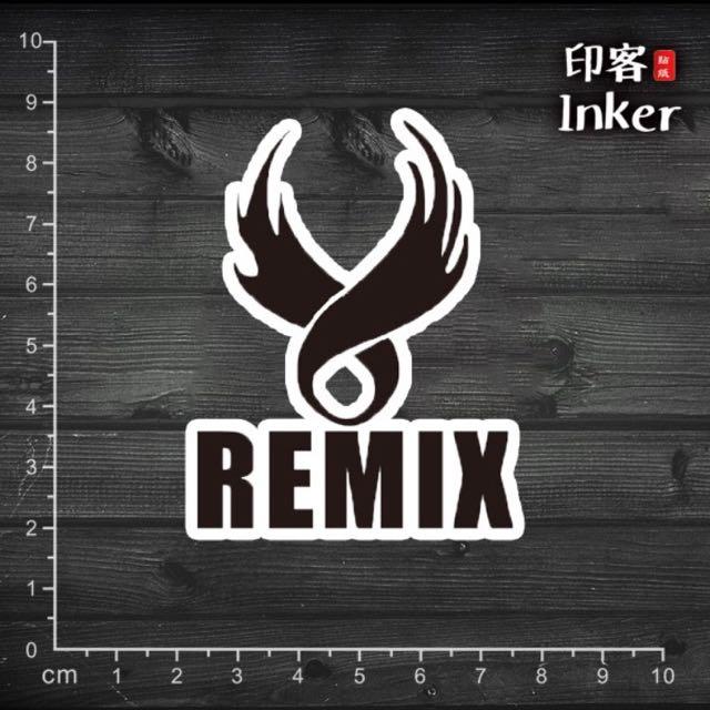 【PVC防水貼紙】REMIX 潮牌