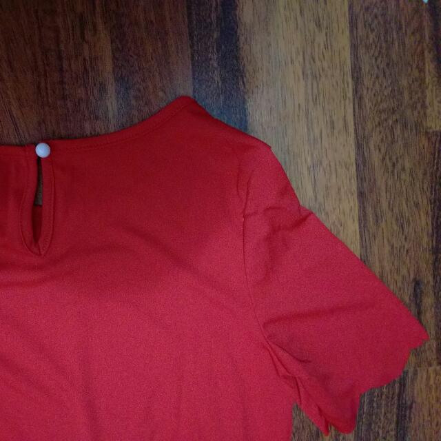 Red Shift Dress (Size M)