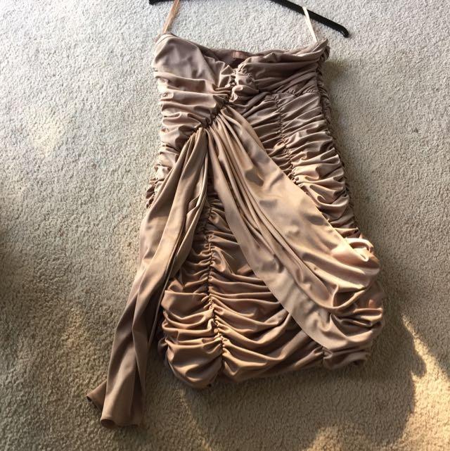 Rouched  Beige Cooper Street Dress