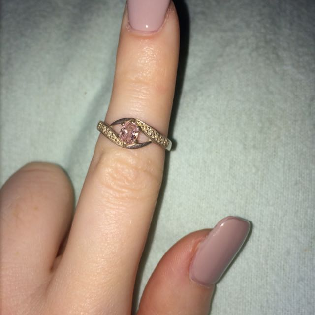 *PENDING* Sterling Silver Ring with Pink Stone