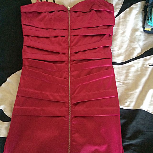 TAGS ON Fuchsia Party Dress