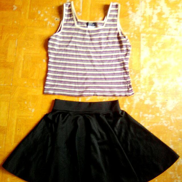 Terno Hanging Sando & Skater Skirt