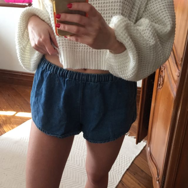 The Fifth denim oversize shorts