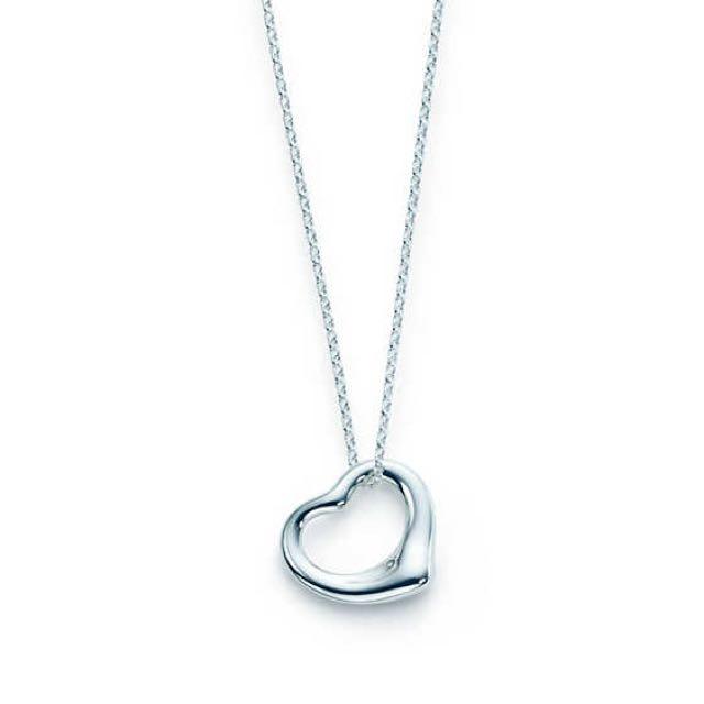Tiffany & Co. Elsa Peretti Open Heart Pendant Necklace