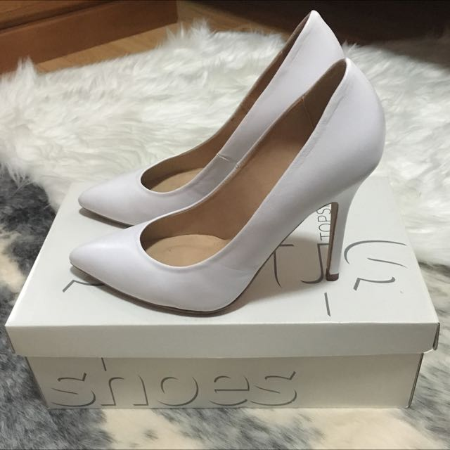 Topshop White Pointed Heels