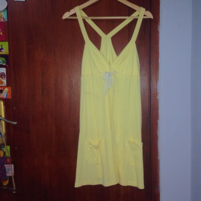 yellow dress by pink victoria's secret