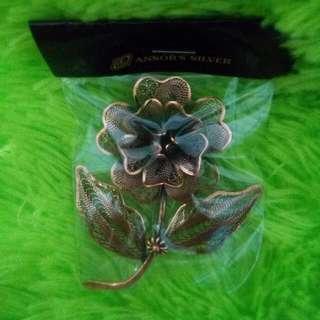 Flower - Silver Brooch