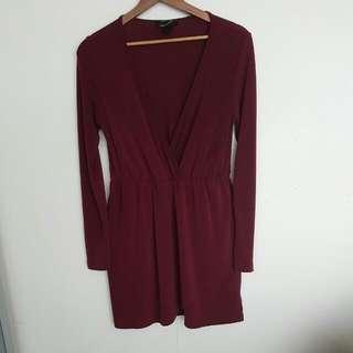 Red Long Sleeve Dress