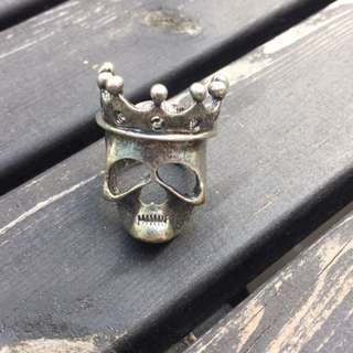 Skull And Crown Metal Ring