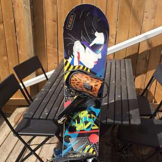 Capita Space Metal Fantasy Snowboard Size 147 With Union Space Cadet Bindings