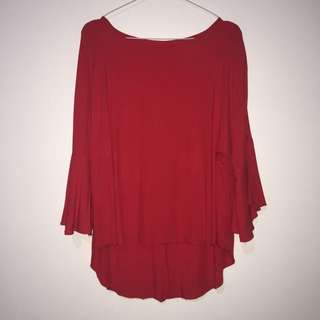 Red Casual Blouse