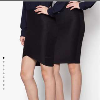 國外網站購入 全新兩件 黑色緊身 翹臀 鉛筆裙