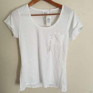 BNWT Plain White Shirt With Pocket