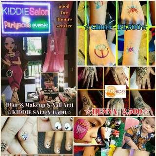 Kiddie Salon Nail Art Face Paint Glitter Tattoo