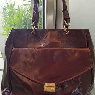 WITCHERY Burgundy genuine Leather Bag