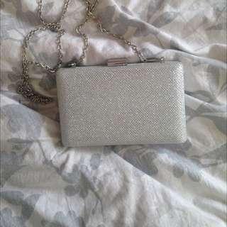 Colette Silver/glittery Clutch