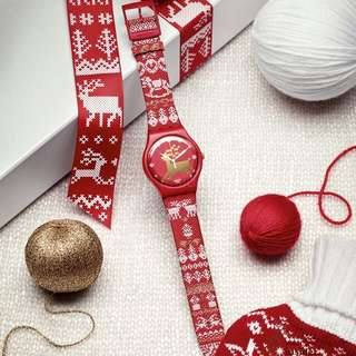 """Swatch Christmas Special 2013 """"Red Knit"""""""