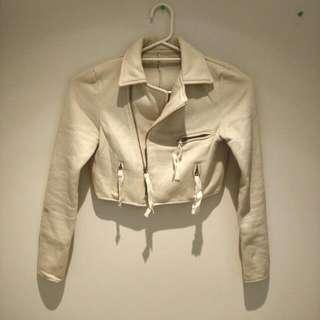 Cream Colour Crop Jacket
