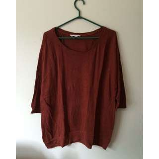 Soft Scarlet Oversized Shirt